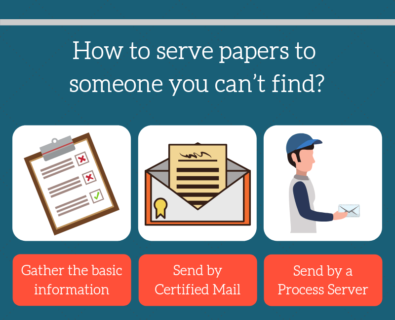 Serving papers options